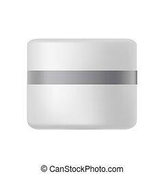 Jarra de plástico para la crema