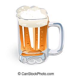 jarro de cerveza, (vector)
