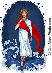 Jesús caminando sobre el agua