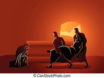 jesús, tumba, colocado