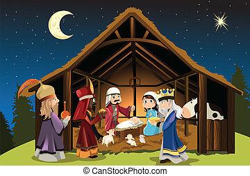 Jesucristo y tres hombres sabios