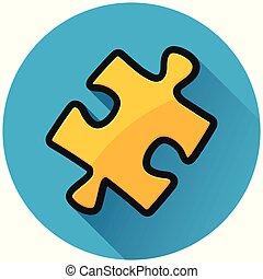 Jigsaw puzzle círculo azul icono