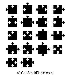 Jigsaw puzzle piezas en blanco constructor