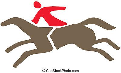 jinete, caballo