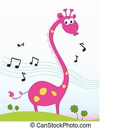 jirafa, canto
