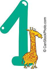 jirafa, numere uno
