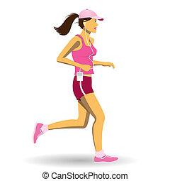 jogging, mujer