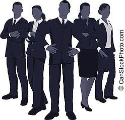 Joven equipo de negocios dinámico