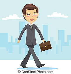 Joven hombre de negocios activo