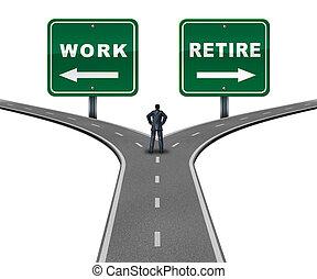 jubilar, trabajo, dirección