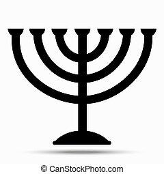 judaism., menorah, símbolo