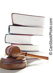 Jueces de mazo legal y libros de leyes