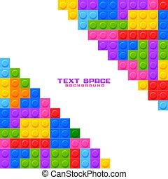 juego, bloques, plano de fondo, construcción, plástico, juguetes