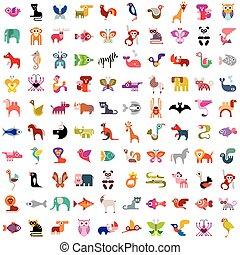 Juego de iconos animales