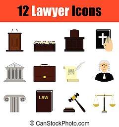 Juego de iconos de abogados