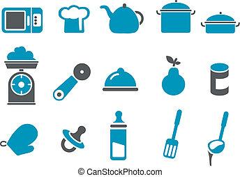 Juego de iconos de comida