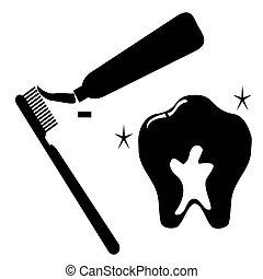 Juego de iconos de dientes limpios