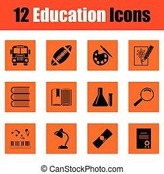 Juego de iconos de educación
