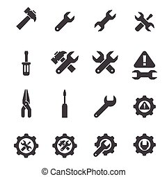 Juego de iconos de herramientas