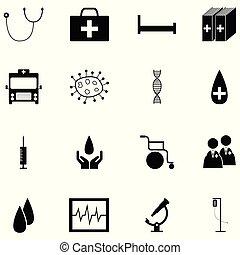 Juego de iconos de la salud