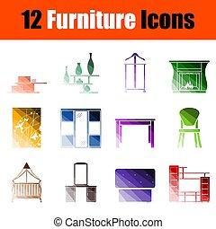 Juego de iconos de muebles