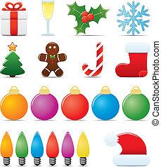 Juego de iconos de Navidad
