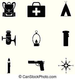 Juego de iconos de supervivencia