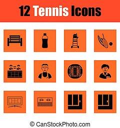 Juego de iconos de tenis