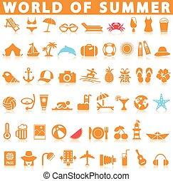 Juego de iconos de verano