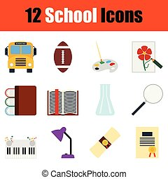 Juego de iconos escolares