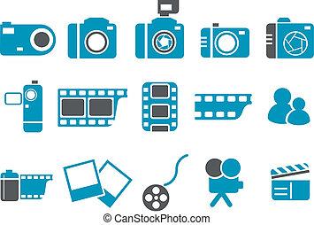 Juego de iconos fotográficos