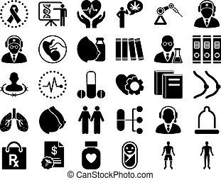 Juego de iconos médicos