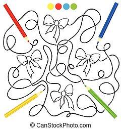 Juego de laberintos y actividad de colorear