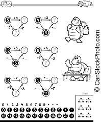 Juego educativo para niños de color