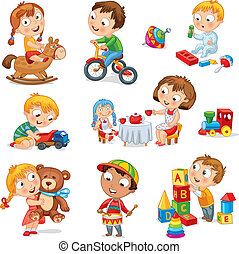 juego, niños, juguetes