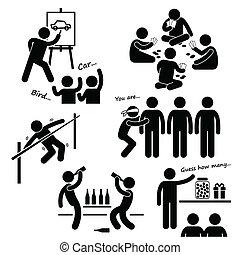 Juegos recreativos del partido