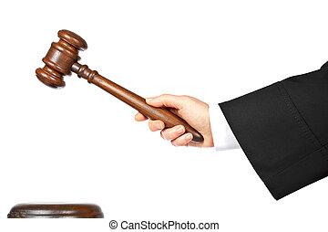 juez, anunciar, veredicto