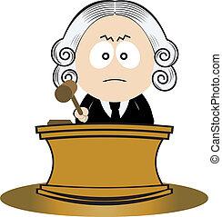 juez, utilizar, el suyo, martillo