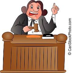 juez, vector, gavel.