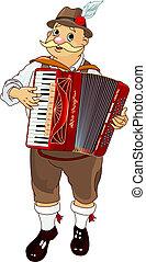 Jugador de acordeón de Oktoberfest