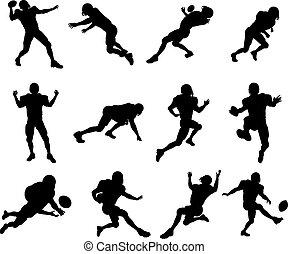 Jugador de fútbol americano silueta