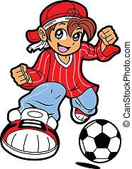 Jugador de fútbol anime manga