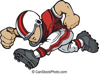 Jugador de fútbol infantil haciendo caricaturas del vector