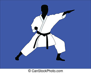 Jugador de karate - vector