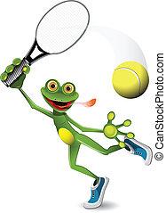 Jugador de tenis de rana