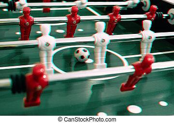 Jugadores de fútbol de mesa de futbol