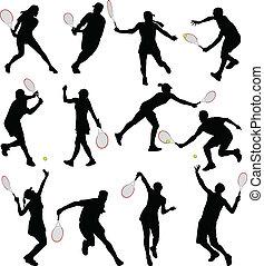 jugadores, tenis