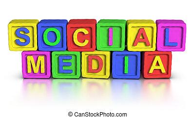 Jugamos bloques: medios sociales