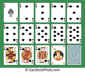 Jugando a las cartas con traje
