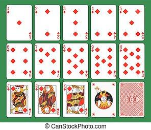 Jugando a las cartas con un traje de diamantes